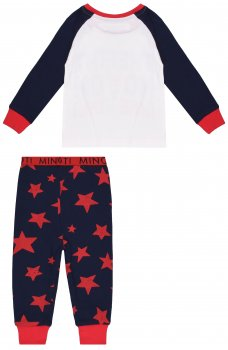 Пижама Minoti Pyja 2 13521 Темно-синяя с красным