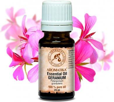 Эфирное масло гераниевое Ароматика Geranium Essential Oil 20 мл (4820177022638)