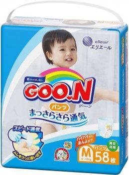 Підгузки-трусики Goo.N М для дітей 6-12 кг унісекс 58 шт (4902011850642)