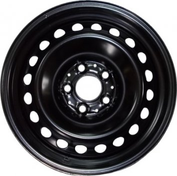 Kapitan Volkswagen / Skoda R16 W6.5 PCD5x112 ET50 DIA57.1 Black semi-Matt