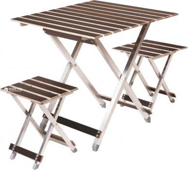 Стол большой Vitan Aluwood + 2 стула (6240)