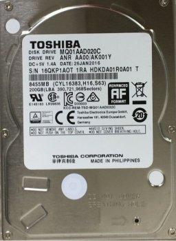 "Накопичувач HDD 2.5"" SATA 200GB Toshiba 8MB 4200rpm (MQ01AAD020C)"