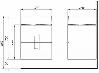 Тумба KOLO TWINS (50) 89489 Білий глянець