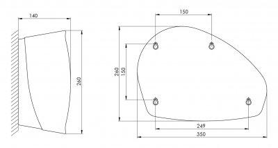 Дозатор туалетного паперу ALL CARE PLASTIQLINE JUMBO Exclusive PQXS3 5720