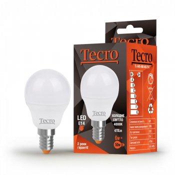 Лампа світлодіодна Tecro E14 6W 4000K G45 470 Лм 220V (TL-G45-6W-4K-E14)