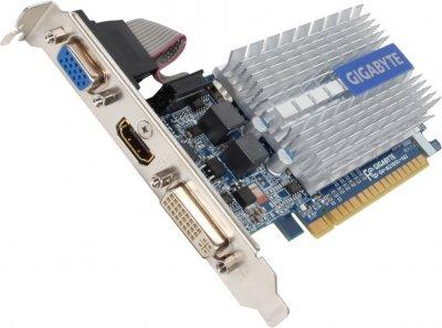 Видеокарта PCI-E 1Gb GeForce 210 (DDR3) GigaByte (GV-N210SL-1GI)