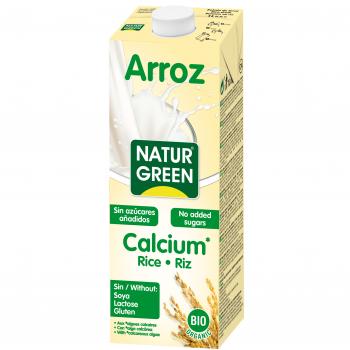 Органическое растительное молоко NaturGreen из риса с кальцием, 1 л (015592)