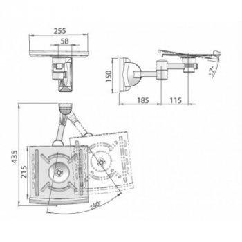 Кронштейн для колонок Electriclight AVA-01-26