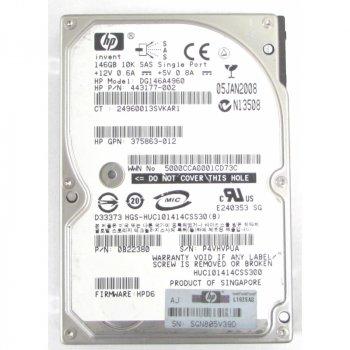 Жорсткий диск HP 146GB 10K 2.5 DP 6G SAS HOTSWAP HDD (507283-001) Refurbished