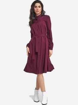 Платье ISSA PLUS 11407 Бордовое