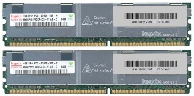 Оперативна пам'ять Fujitsu DDR2-RAM 8GB Kit 2x4GB PC2-5300F ECC 2R (S26361-F3263-L524) Refurbished