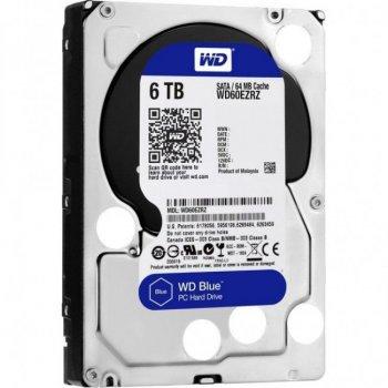 """Жорсткий диск 3.5"""" SATA 6TB WD Blue (WD60EZRZ)"""