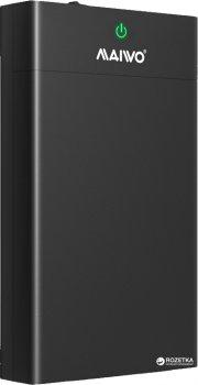 """Зовнішня кишеня Maiwo для HDD/SSD 3.5""""/2.5"""" SATA через USB3.1 Type-C (K3568G2)"""