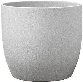 Кашпо Soendgen Keramik Basel Stone 24 х 23 см Світло-сірий камінь (0069-0024-2256)