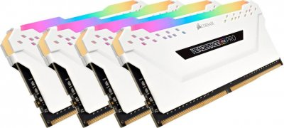 Оперативная память Corsair 32GB 3000MHz Vengeance RGB PRO White CL15 (4x8GB) (CMW32GX4M4C3000C15W)