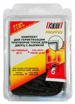 Набір GEB джгут вогнестійкий 10 мм/2,5 м + клей 20 мл