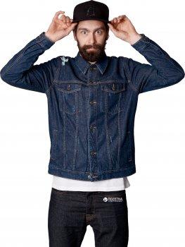 Джинсовая куртка Trucker Dark Blue KDJ-0104 Синяя