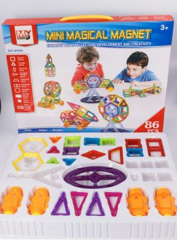 Яркий 3D магнитный конструктор Mini Magical Magnet детский (86 деталей)