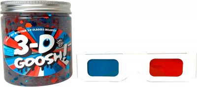 Лизун с 3D эффектом Compound Kings Slime 3-D Goosh с очками Красный-Белый-Голубой 425 г (300115-1) (760939630050)