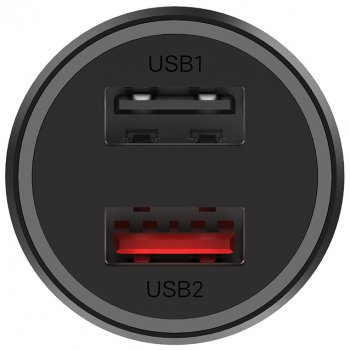 Автомобильное зарядное устройство Xiaomi Car Charger 2 QC 3.0 37W CC06ZM (GDS4131CN/GDS4147GL)