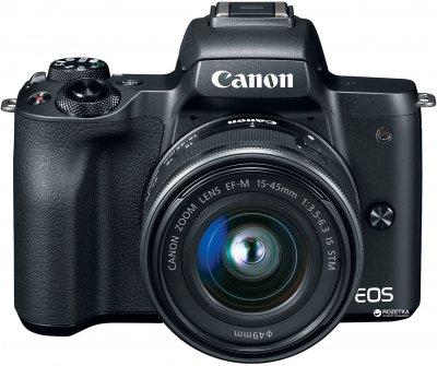 Фотоапарат Canon EOS M50 Kit 15-45 IS STM Black Офіційна гарантія! (2680C060AA)