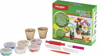 Масса для лепки Paulinda Super Dough Цветы в горшочках (PL-081142)