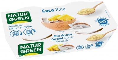 Органический растительный десерт NaturGreen из Кокоса с ананасом 2 х 125 г (8436542190602)