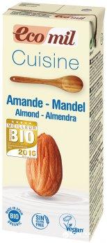 Органические растительные сливки Ecomil из Миндаля для приготовления 200 мл (8428532230047)