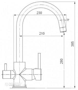 Кухонний змішувач з підключенням до фільтру GLOBUS LUX GLLR-0333 StSTEEL
