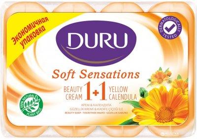 Мыло Duru Soft Sensations Крем и календула 4 х 90 г (8690506481650)