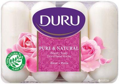 Мыло Duru Pure and Natural экопак Роза 4 х 85 г (8690506429355)