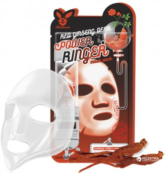 Маска омолаживающая с женьшенем Elizavecca Red Ginseng Deep Power Ringer Mask Pack 23 мл (8809520941938)