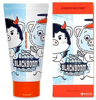 Кислородная маска для очищения пор Elizavecca Hell-Pore Bubble Blackboom Pore Pack 150 мл (8809418751601)