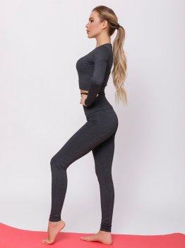 Спортивний костюм ISSA PLUS 12390 Темно-сірий