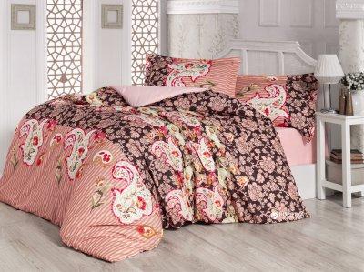 Комплект постельного белья Gokay Ранфорс Paisley Pudra 160x220x2 (010079181)