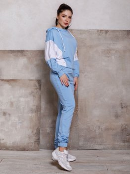 Спортивний костюм ISSA PLUS 12440 Блакитний