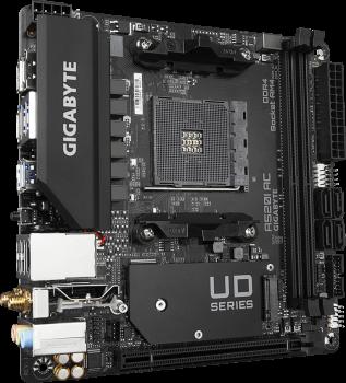 Материнская плата Gigabyte A520I AC (sAM4, AMD A520, PCI-Ex16)