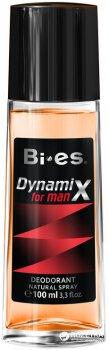 Парфюмированный дезодорант в стекле для мужчин Bi-es Динамикс 100 мл (5905009044299)