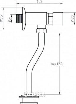 Кнопка смыва для писсуара VALVEX Urinex 2452950