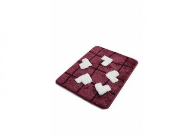 Килимок для ванної Chilai Home Kalbim Mor Фіолетовий