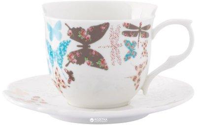 Чашка чайная с блюдцем Krauff Butterfly 200 мл (21-252-029)