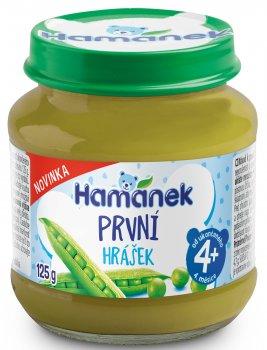 Упаковка пюре Hamanek із зеленого горошку 125 г х 8 шт. (8595139797393)
