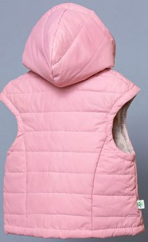 Жилет з капюшоном для дівчинки Модний карапуз 03-00786 Рожевий