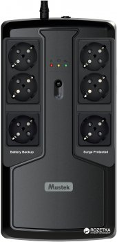 Mustek PowerMust 600 Offline 600VA/300W (600-LED-OFF-T10)