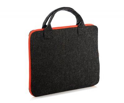 Сумка FeltFabricDesign из войлока для ноутбука черная ВМ21(0027)