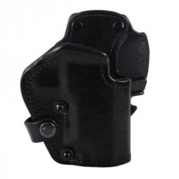 Кобура Front Line открытая, поясная, кожа, для Glock 26, 27, 28 ц:черный