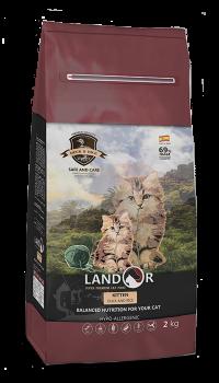 Сухий корм Landor (Ландор) для кошенят з качкою та рисом