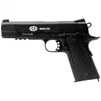 Пневматичний пістолет SAS (M1911 Tactical) Blowback. Корпус - метал ( KMB-77AHN )