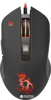 Мышь Defender Devourer MHP-006 USB с игровой поверхностью и гарнитурой Black (52006)
