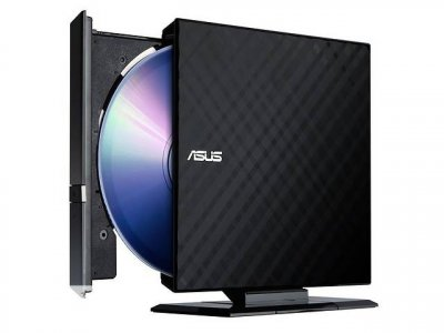 Asus SDRW-08D2S-U LITE DVD+-R/RW USB2.0 EXT Ret Slim Black (SDRW-08D2S-U_LITE/BLK)